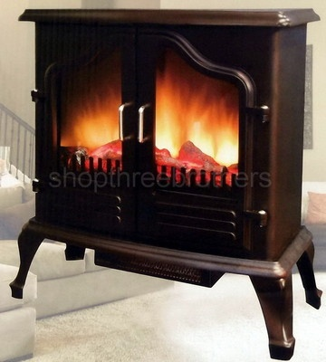 Free Standing Portable Electric Fireplace Stove Space