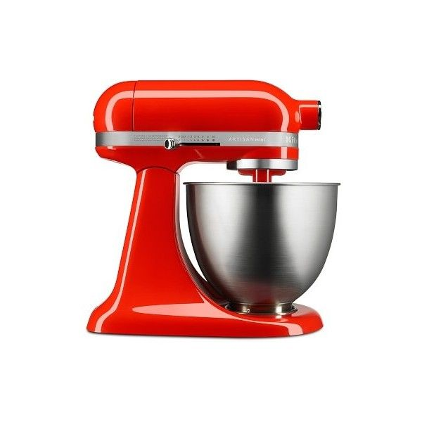 Williams-Sonoma KitchenAid(R) Artisan Mini Stand Mixer ($330) ❤ liked on Polyvore featuring home, kitchen & dining, small appliances, kitchen aid small appliances, kitchen aid mixers, kitchenaid standmixer, kitchenaid tilt head mixer and compact mixer