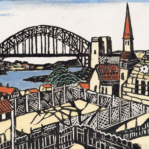 Margaret Preston -   Sydney Bridge c1932 (detail) Art Gallery of New South…