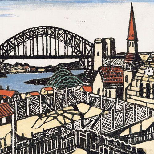 Margaret Preston -   Sydney Bridge c1932 (detail) Art Gallery of New South Wales, purchased 1964