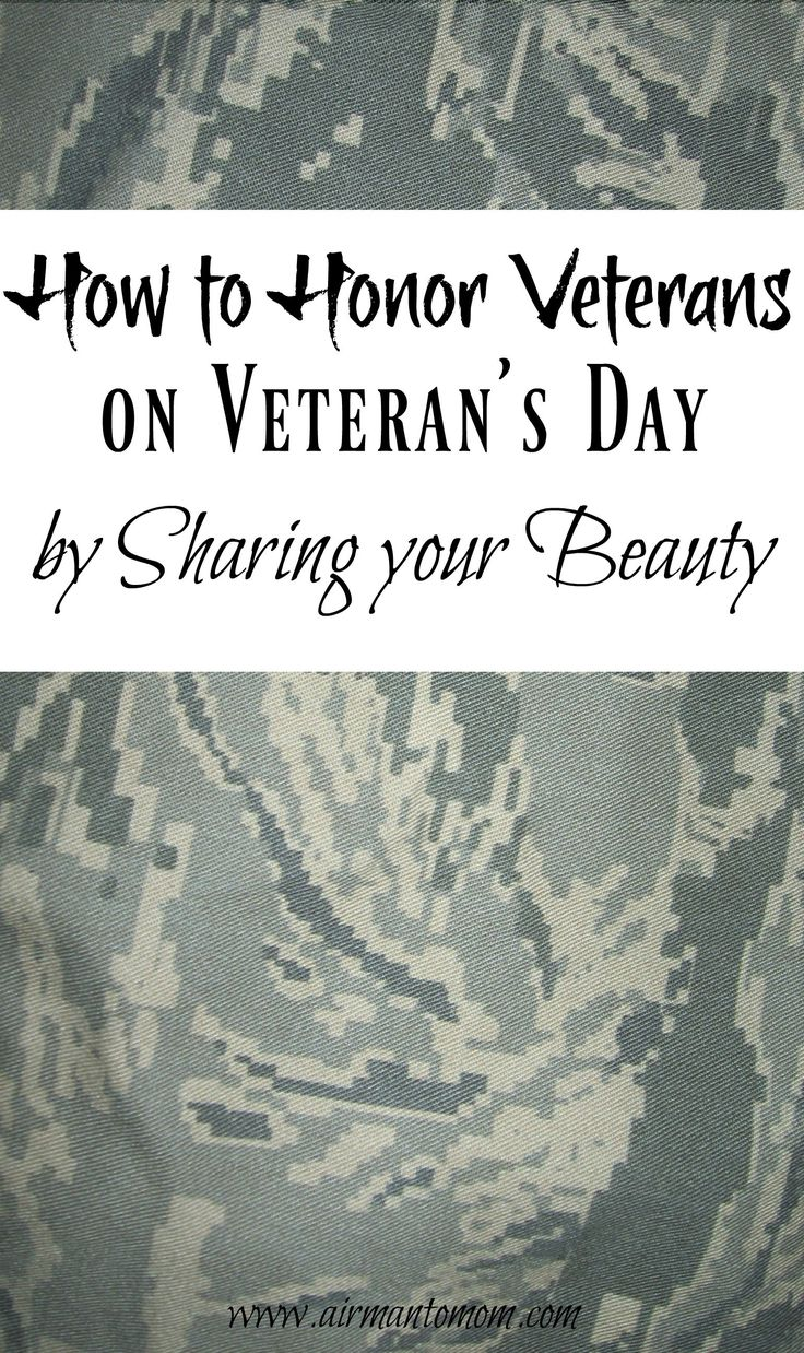 Honoring Veterans by Sharing your Beauty