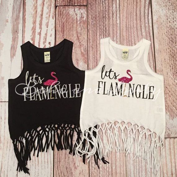 Lets flamingle fringe tank by bohoandlovely on Etsy