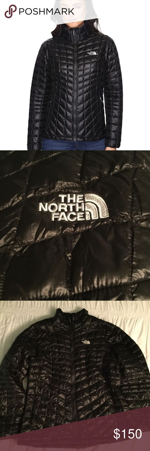 NWOT The North Face Thermoball Jacket SZ XXL Bought to wear hiking and never got to wear it due to health issues and since then I've lost a lot of weight and it no longer fits. Full zip jacket. Zip hand pockets. No hood. Lightweight loft, warmth& compressibility of down with the wet weather insulating performance of synthetics. See photos for measurements. Elastic at wrists, drawcord at hips to seal out cold and the whole thing stuffs inside the right hand Stow Pocket  making it easy to…