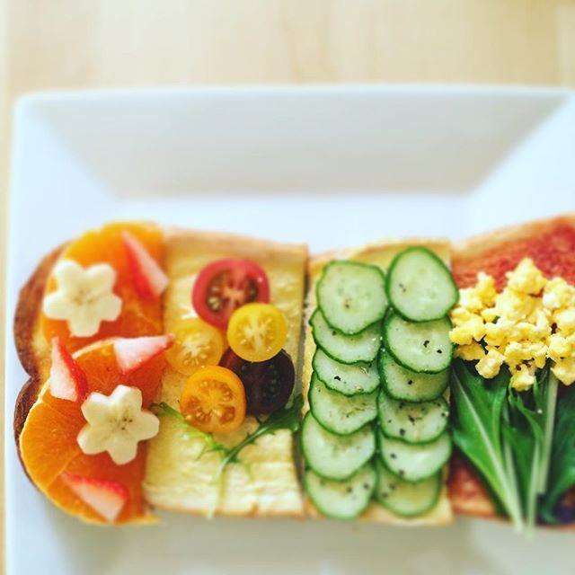 インスタで大人気!可愛くて美味しい♡お花トースト