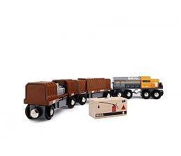 Brio Goederen treinset  Plaats de ladingen in de goederenwagons met schuifdeur functie! Een spannend stukje speelgoed, speciaal voor kleine machinisten die er van houden om spulletjes te verstoppen en te ontdekken.  De krachtige locomotief vervoert de goederen naar hun uiteindelijke plaat van bestemming.   http://www.brio-trein.nl/brio-treinen-goederen-treinset.html
