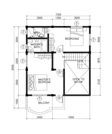Sarah Is A Dramatic Open To Below Two Storey House Plan With 3 Bedrooms And 3