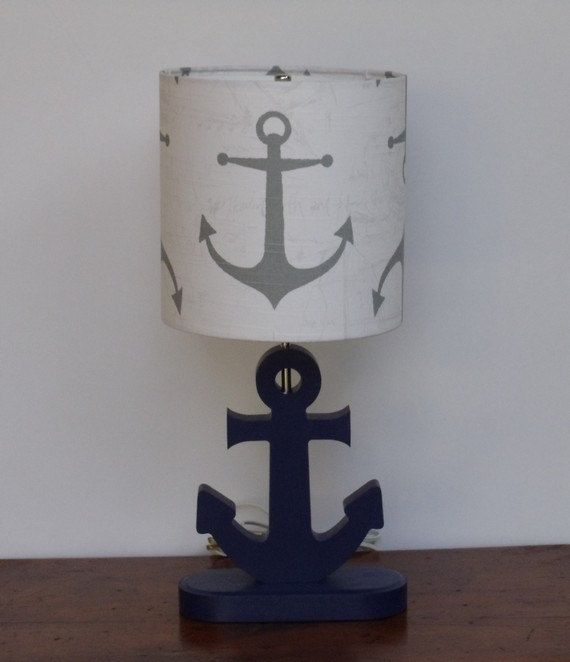 Handmade Medium Grey Anchor/Nautical Theme Drum by PerrelleDesigns, $40.00