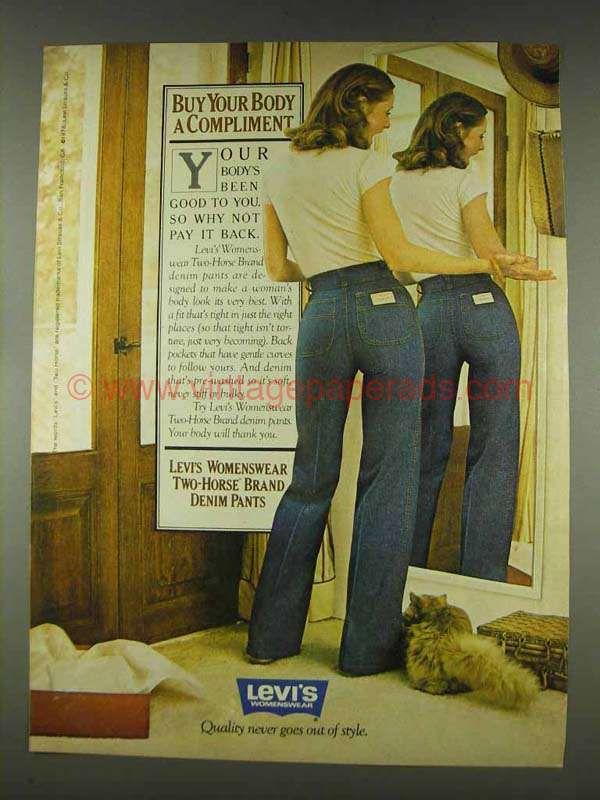 Levi's 1978 Denim Pants Two Horse En Ad 2019 Brand Womenswear 3FcJ5l1uTK