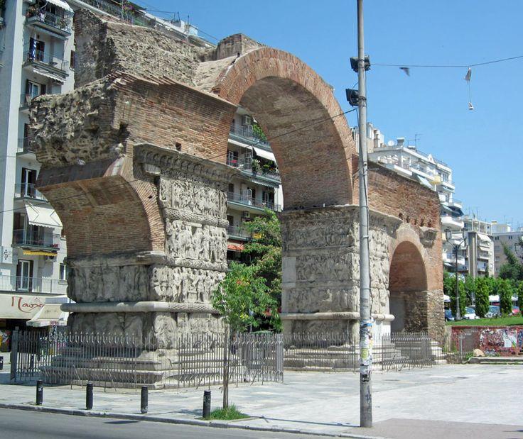 Triumphal Arch of Galerius, Thessaloniki, Macedonia, Greece - Travel Photos by Galen R Frysinger, Sheboygan, Wisconsin
