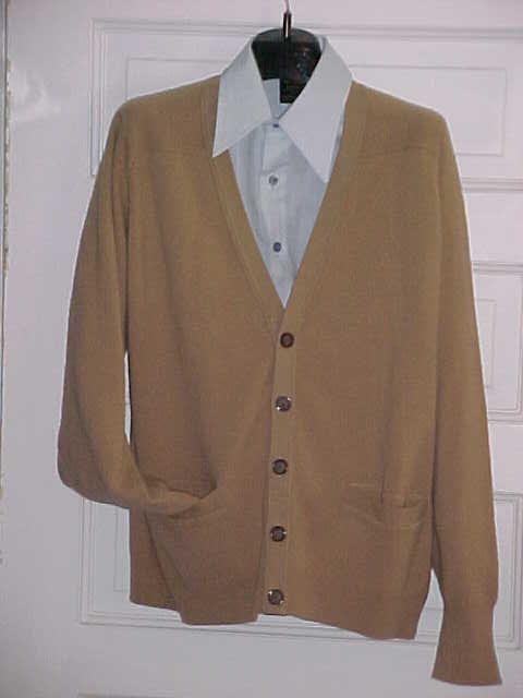 Mens Pendleton Cardigan Sweater Camel Wool Cardigan Traditional ...