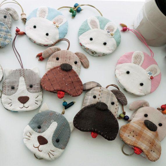 keychains Little dogs / cow / cats / monkey / rabbit / bear