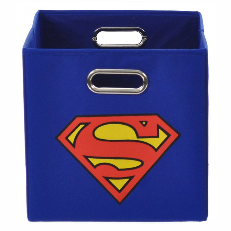 DC Comics Superman Logo Collapsible Storage Bin - Visit to grab an amazing super hero shirt now on sale!