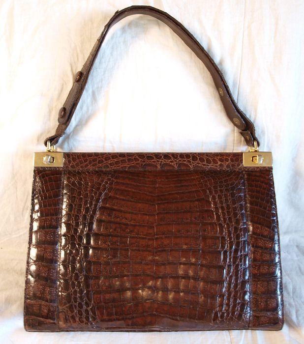 Online veilinghuis Catawiki: Vintage  Kroko Handtas - Jaren 60