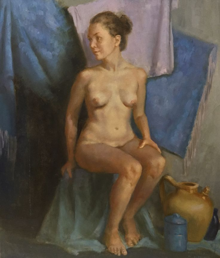 Beautiful, serene nude figure painting by our student Manuela Huber