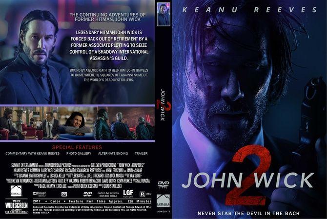 John Wick Chapter 2 2017 Dvd Custom Cover Custom Dvd