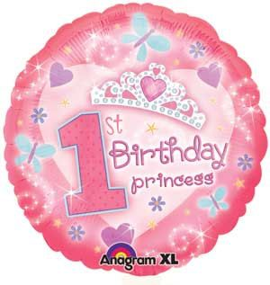1st Birthday Princess Balloons Large number 1 by PartySurprise