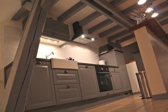7 best peinture maison images on pinterest exposed beams home ideas and loft. Black Bedroom Furniture Sets. Home Design Ideas