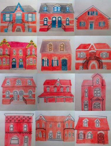 houses in cabbage town by Araceli Robledo