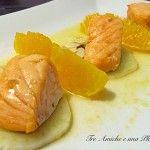 Salmone al forno con arancio e finocchio