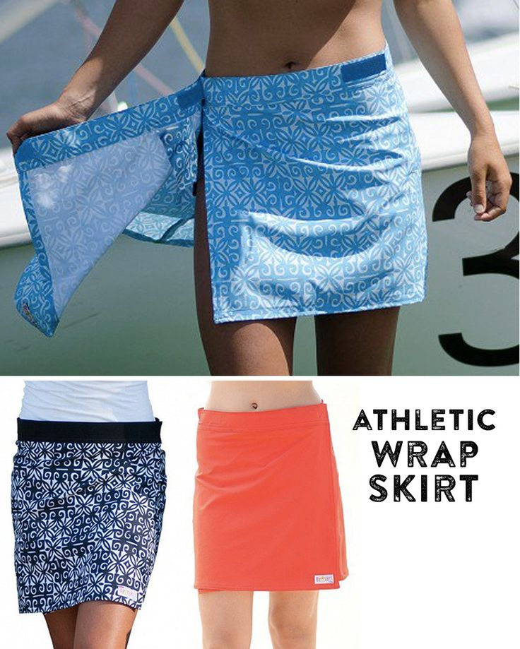 RipSkirt is an athletic wrap that provides coverage over your bathing suit, yoga wear, or bike pants.