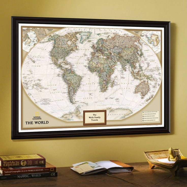Beautiful wall decor map from award winning