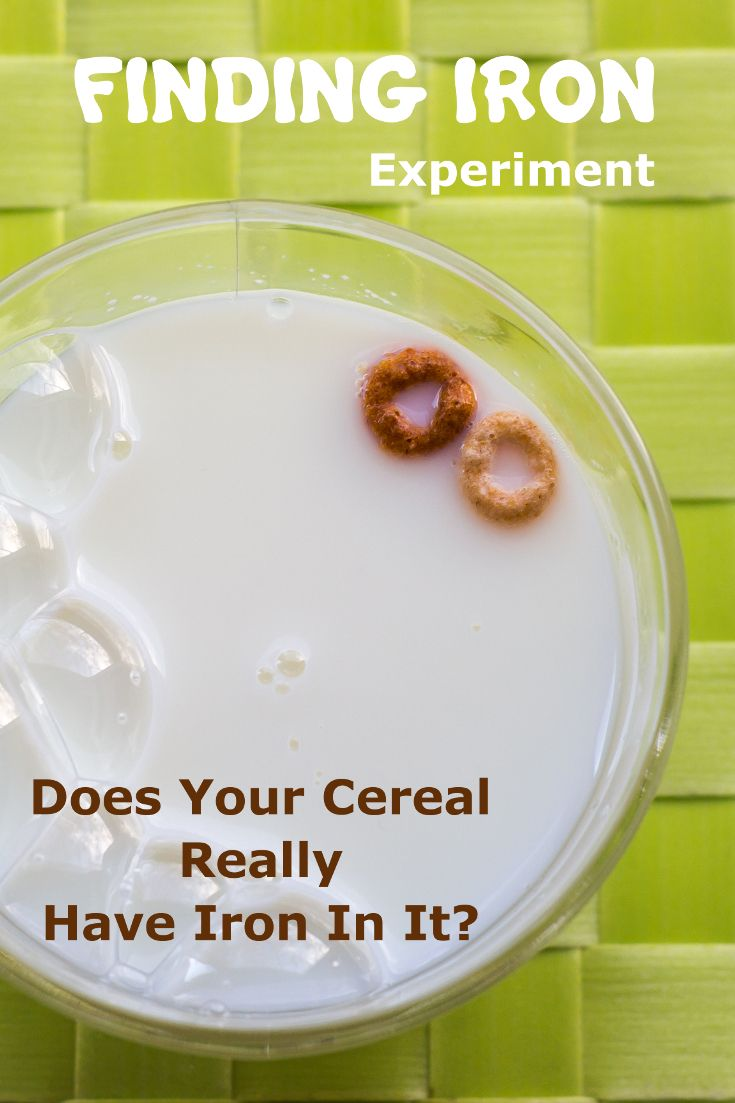 You can really find and see iron in your cereal!