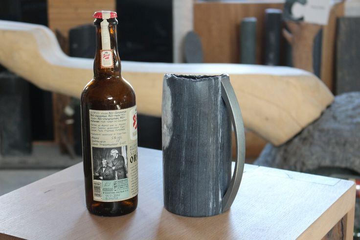 Naturstein Bierkrug Stein:Werk