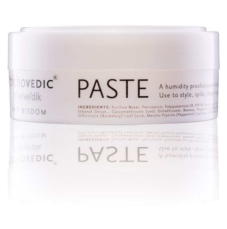 Paste - 100g. A Humidity Proof Pliable Paste Containing Petrolatum, Lanolin, Mineral Oil, Beeswax and infused with Sage, Rosemary and Peppermint Oil. Use to smooth and hold, shape, piece and spike. #hair #hairproduct #hairproducts #hairstyling #haircare #hairstyle #hairfashion #hairstylist #hairstyles #hairfashion #hairdressing #trichovedic