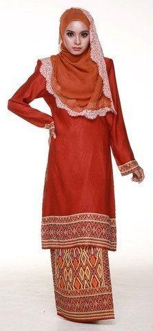 Baju Kurung Songket Impiana Vista Asian Malaysia Traditional Two Piece Dress  | eBay
