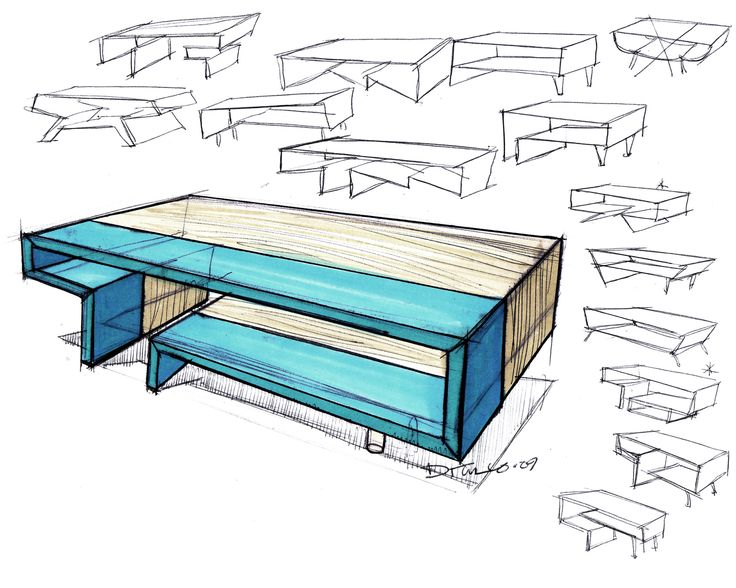 11 best images about design sketching table on pinterest for Furniture design sketches