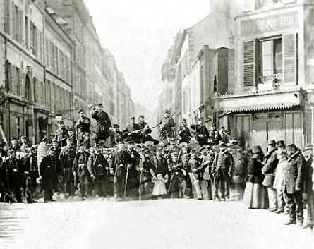 Paris 1871. Rue St Sébastien