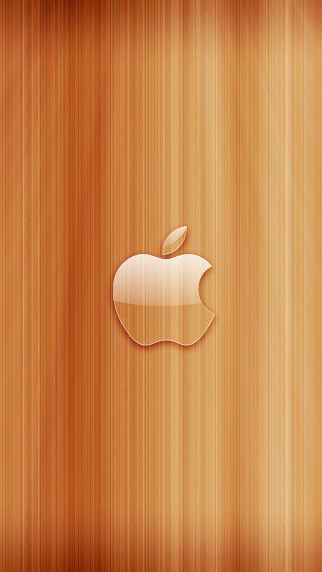 Apple Wood #iPhone #5s #Wallpaper | There are more in http://www.ilikewallpaper.net/iphone-5-wallpaper/.