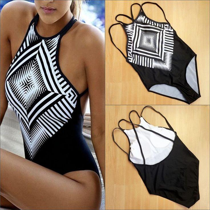 Sexy One-piece Suits Women's One Pieces Swimsuit Bikini Print Swimwear Bathing Push Up Padded Sweet Bikinis