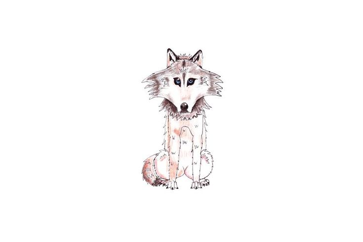 This is an illustration of a wolf drawn with watercolour pencils and edited with GIMP. It is immediatly downloadable for one's own convenience on etsy (see link above) at the price of $4.56. It is useful as a decoration for nursery rooms, a boy's room, on a T-shirt, or a design.