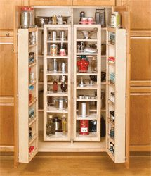 Awesome!  Swing-Out Tall Kitchen Cabinet Chef's Pantries | Can you say storage, storage storage? Yay! :-)