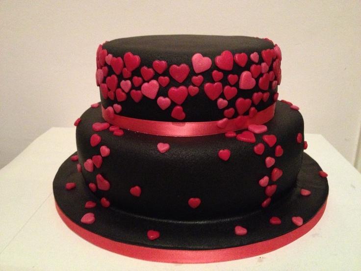 hearts cake.