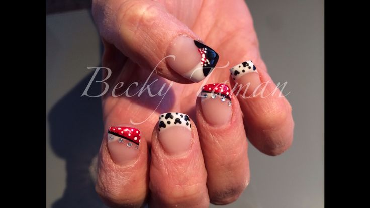 Disney nails featuring Mickey Mouse nails by Becky Taman