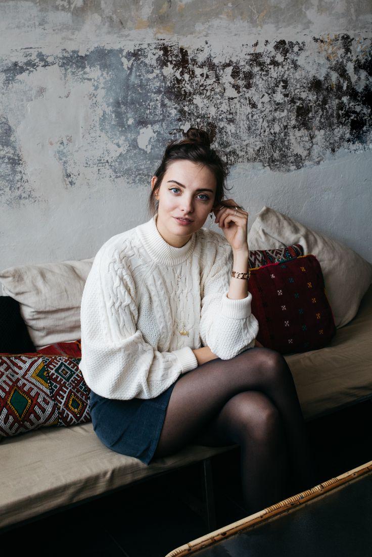 POLIENNE by Paulien Riemis | wearing a VILA knit & skirt, MOROBE boots at Tinsel, Antwerp