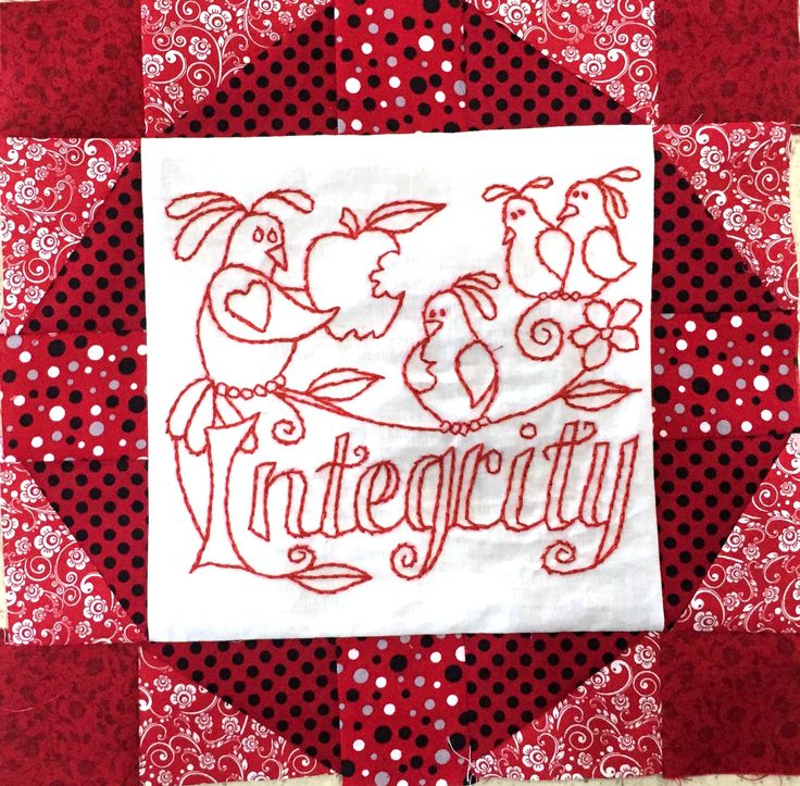 The latest free pattern in my Words to Live By Free Quilt Block Series- Integrity