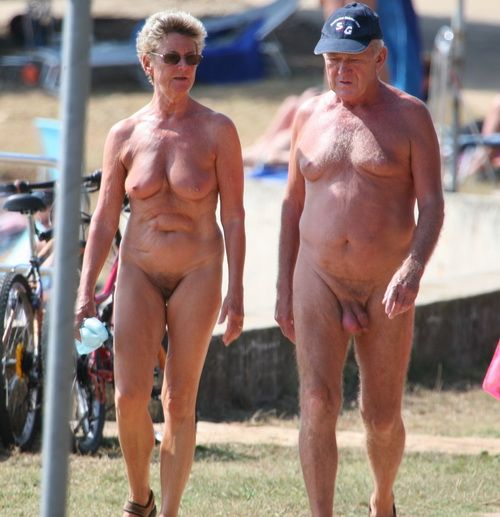 Out! old couple nudist little