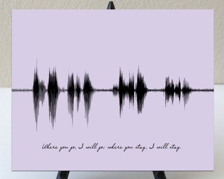 Wedding Gift For Artsy Couple : ... Wedding Vow Art on Pinterest Sound waves, Wedding vows and Wedding