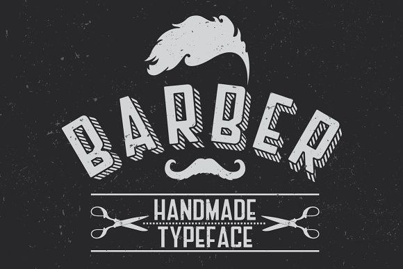 Barber Label Typeface by Vozzy on @creativemarket