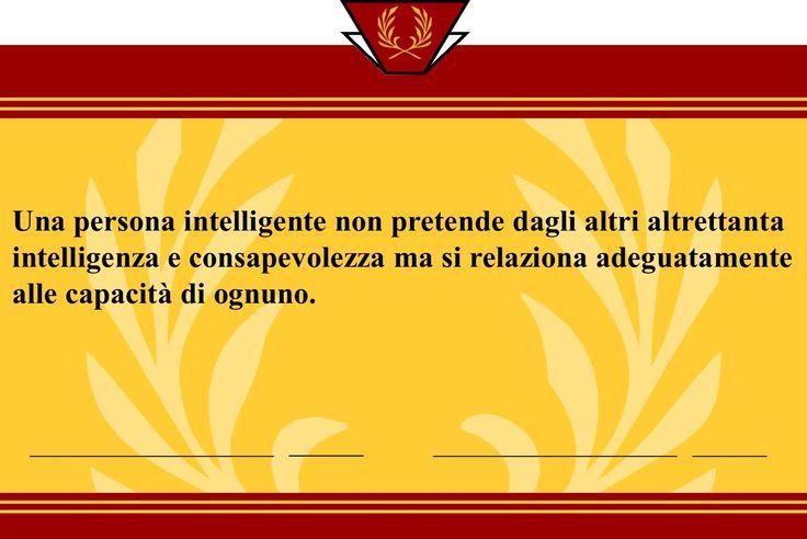 Una persona intelligente...