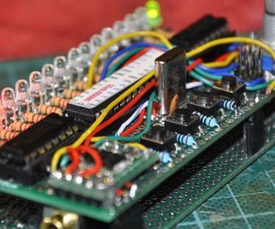"""FM radio with """"old style"""" LED Bargraph Frequency display"""