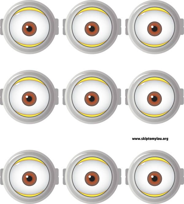 Lively image regarding minion printable eyes