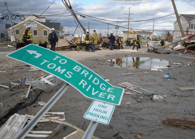 Route 35 looking north at intersection of Fielder Avenue in Ortley Beach Wednesday, Oct. 31, 2012.