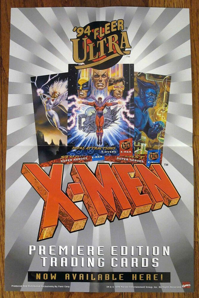 Ultra Master Set 94 Fleer Ultra X Men Trading Cards W Cool Promo Stuff X Men Video Game Covers Hero