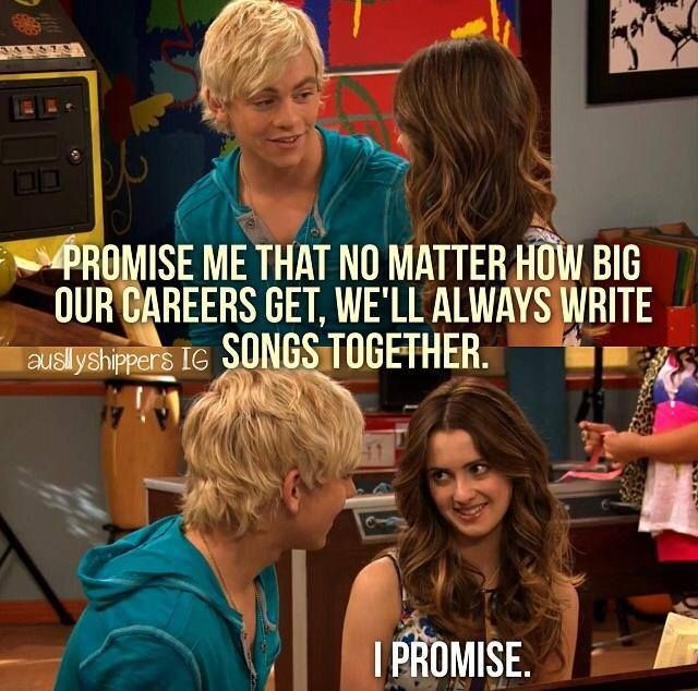 I love writing songs, just like Ally. Now I just have to find an Austin! ;)