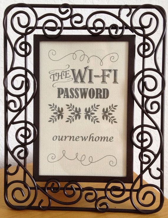 heres a nice sign and frame for your salon wifi password http