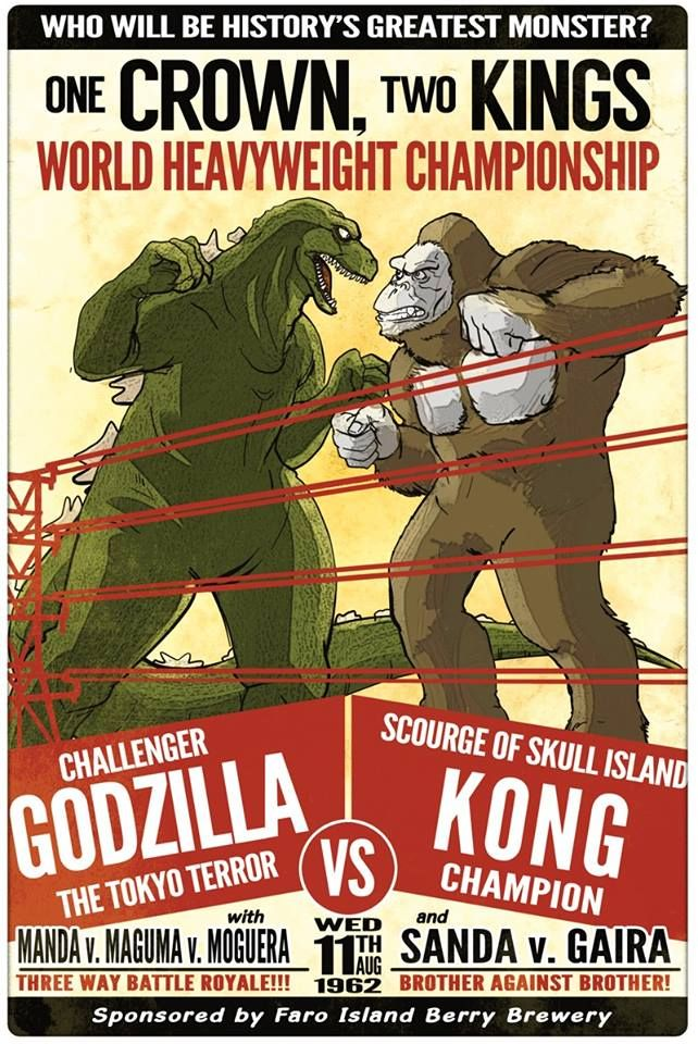 A poster for the big fight: KING KONG VS GODZILLA (1962) #Godzilla
